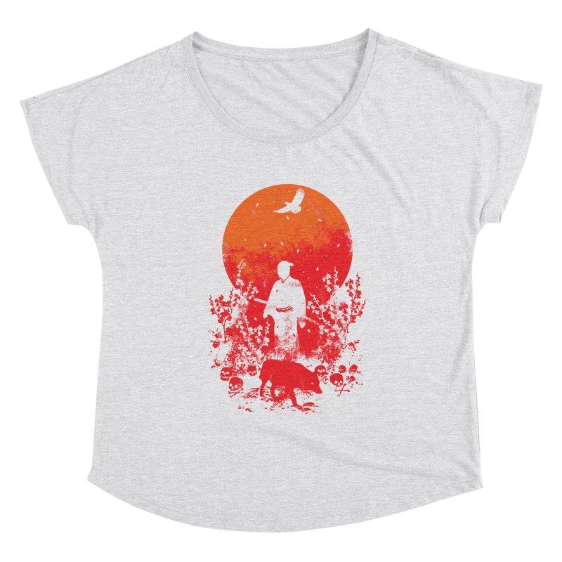 Red Sun Women's Scoop Neck by Steven Toang