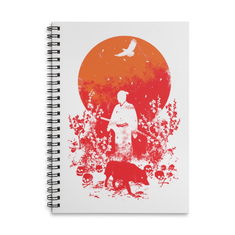 Red Sun Accessories Notebook by Steven Toang