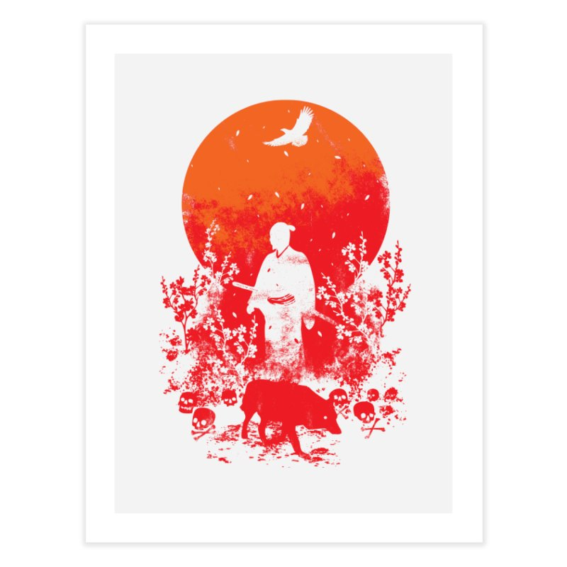 Red Sun Home Fine Art Print by Steven Toang