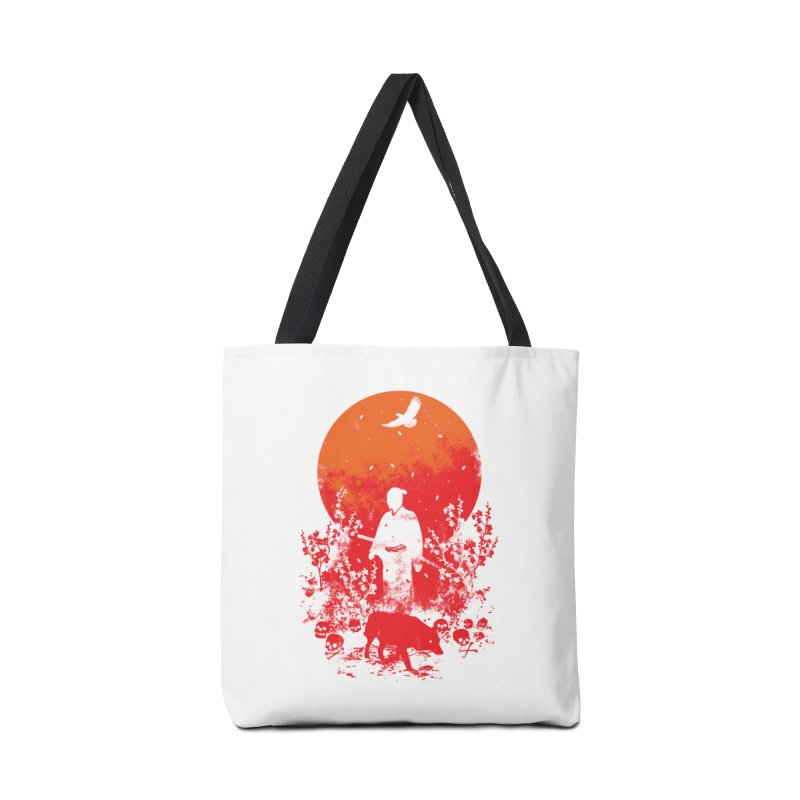 Red Sun Accessories Tote Bag Bag by Steven Toang