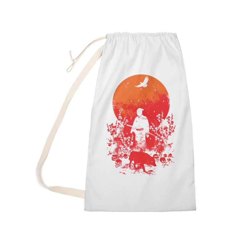 Red Sun Accessories Laundry Bag Bag by Steven Toang