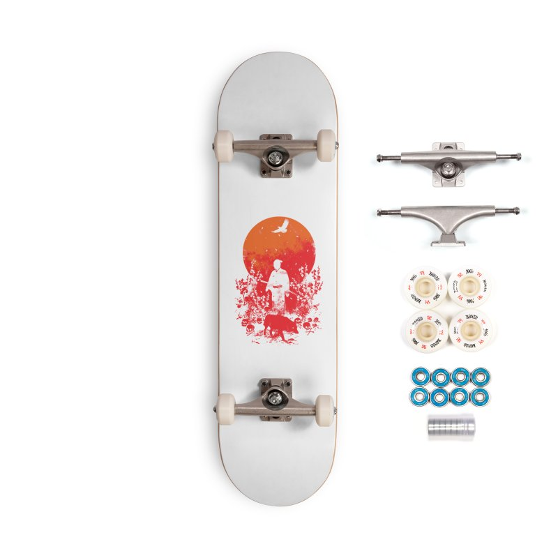 Red Sun Accessories Complete - Premium Skateboard by Steven Toang