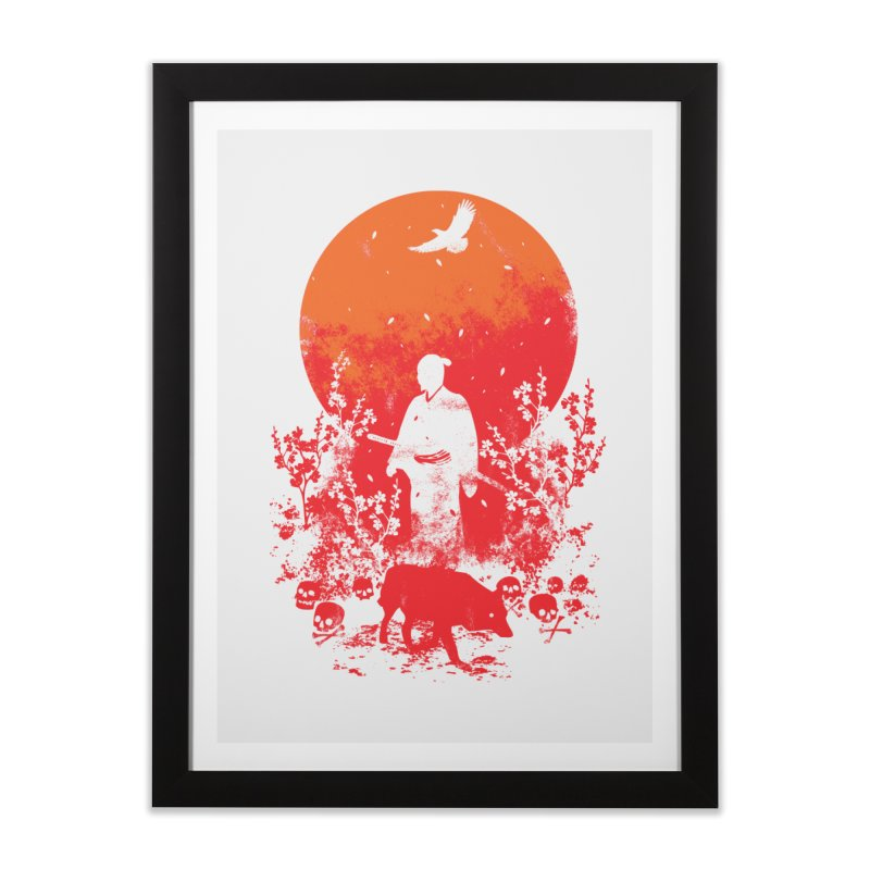 Red Sun Home Framed Fine Art Print by Steven Toang