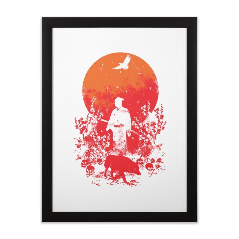 Red Sun Home Framed Fine Art Print by Steven Toang