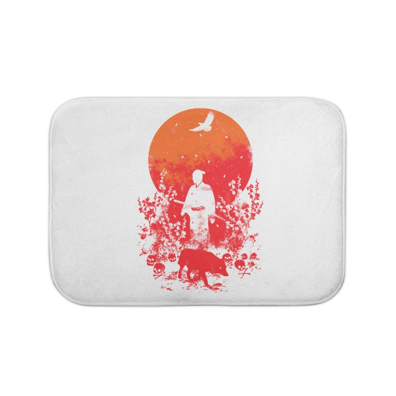 Red Sun Home Bath Mat by Steven Toang