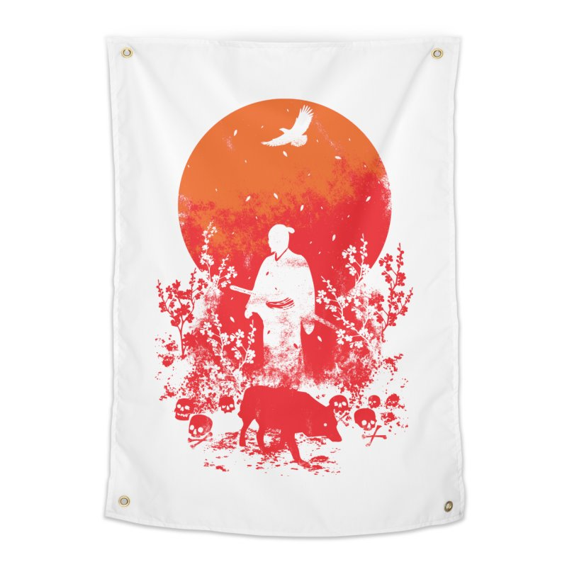 Red Sun Home Tapestry by Steven Toang