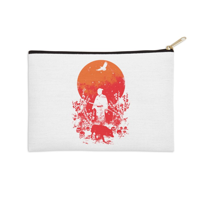 Red Sun Accessories Zip Pouch by Steven Toang