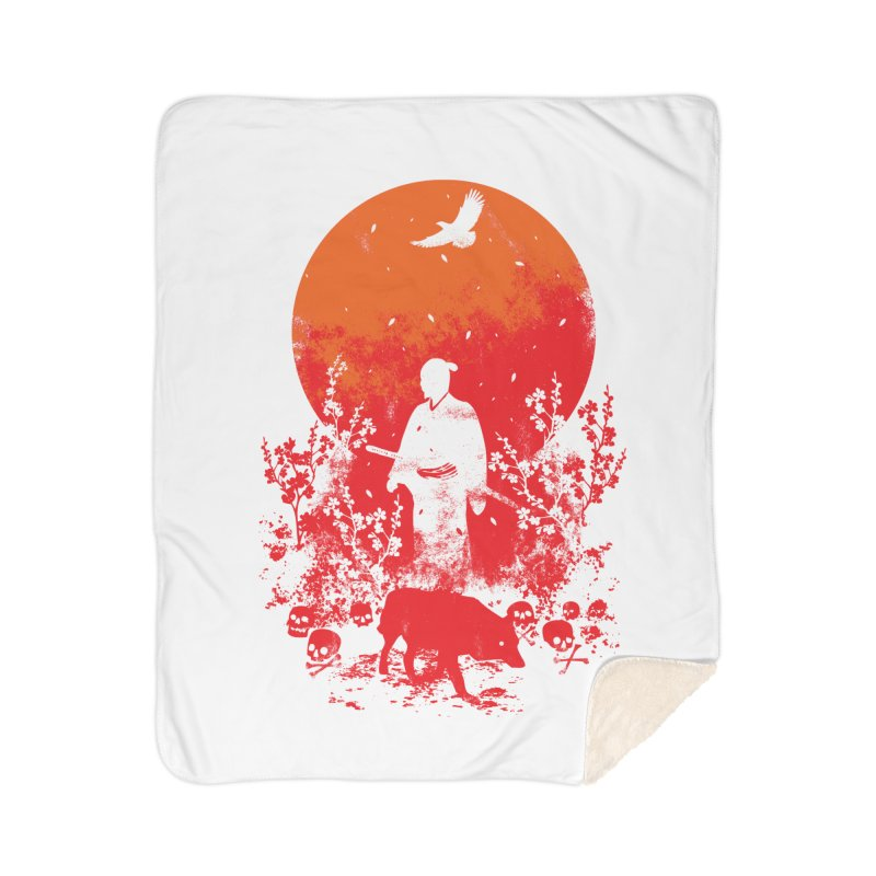 Red Sun Home Sherpa Blanket Blanket by Steven Toang
