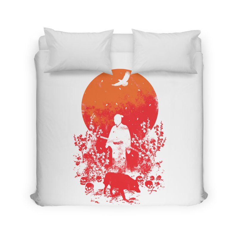 Red Sun Home Duvet by Steven Toang
