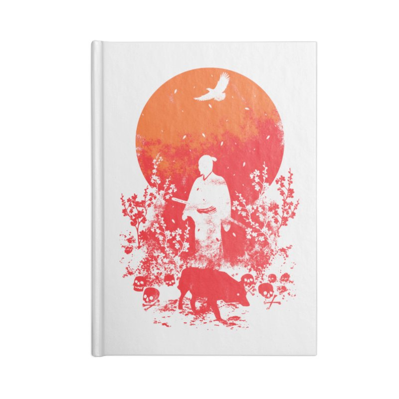 Red Sun Accessories Lined Journal Notebook by Steven Toang