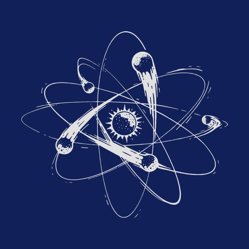Atomic Meteors Men's T-Shirt by Steven Toang