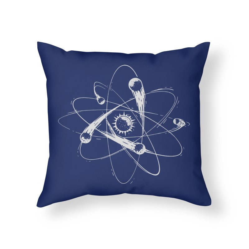 Atomic Meteors Home Throw Pillow by Steven Toang