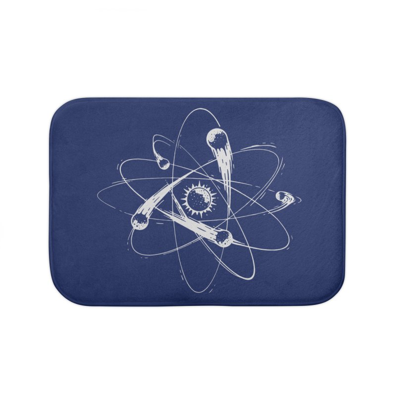 Atomic Meteors Home Bath Mat by Steven Toang