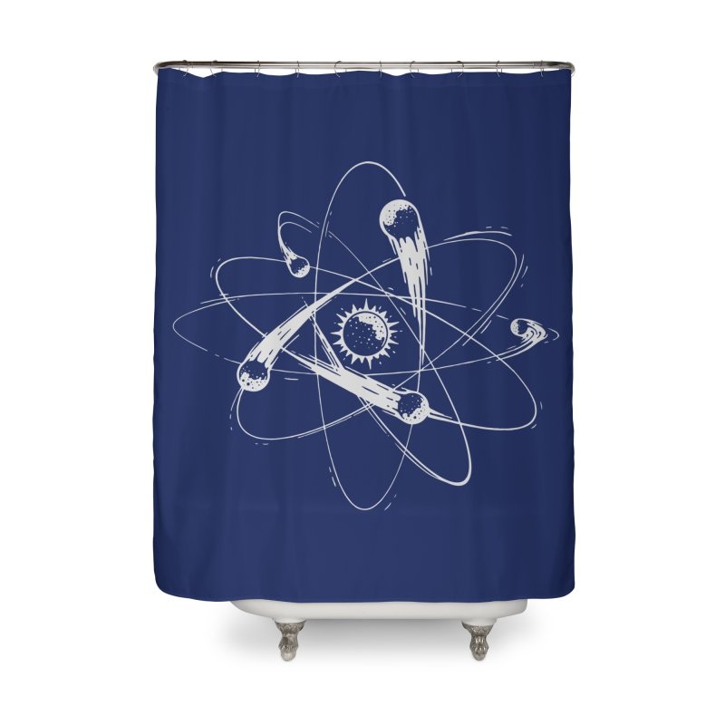 Atomic Meteors Home Shower Curtain by Steven Toang
