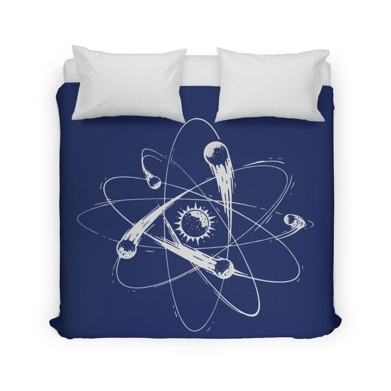 Atomic Meteors Home Duvet by Steven Toang