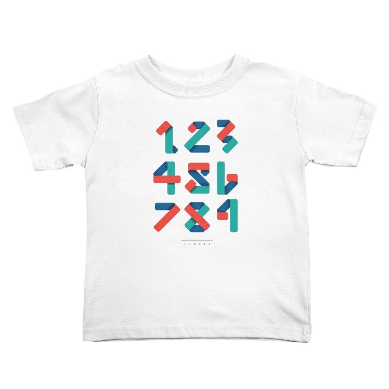 N.U.M.B.E.R Kids Toddler T-Shirt by Steven Toang