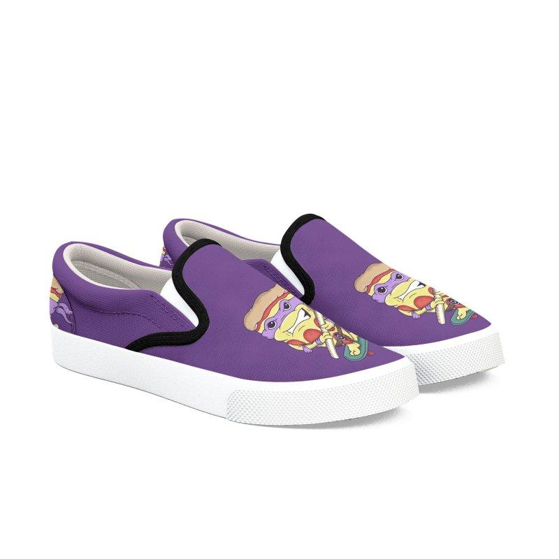 Pizza Donny Men's Slip-On Shoes by SteveOramA