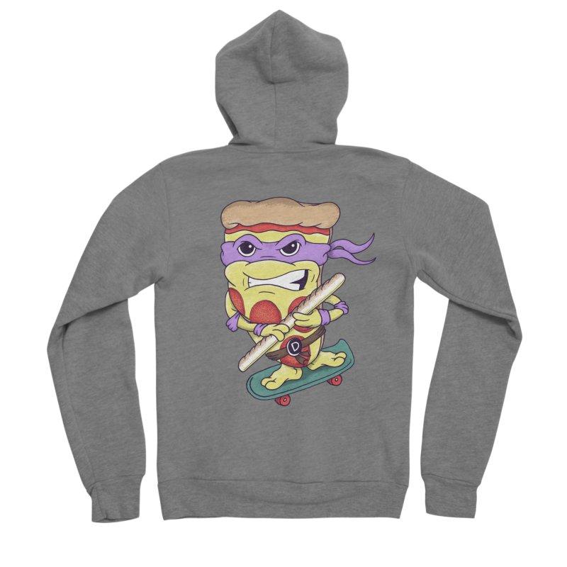 Pizza Donny Men's Sponge Fleece Zip-Up Hoody by SteveOramA