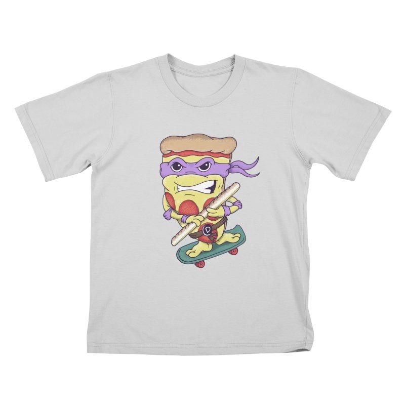 Pizza Donny Kids T-Shirt by SteveOramA