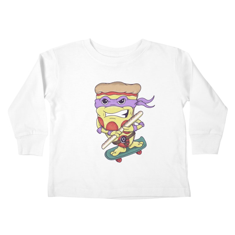 Pizza Donny Kids Toddler Longsleeve T-Shirt by SteveOramA