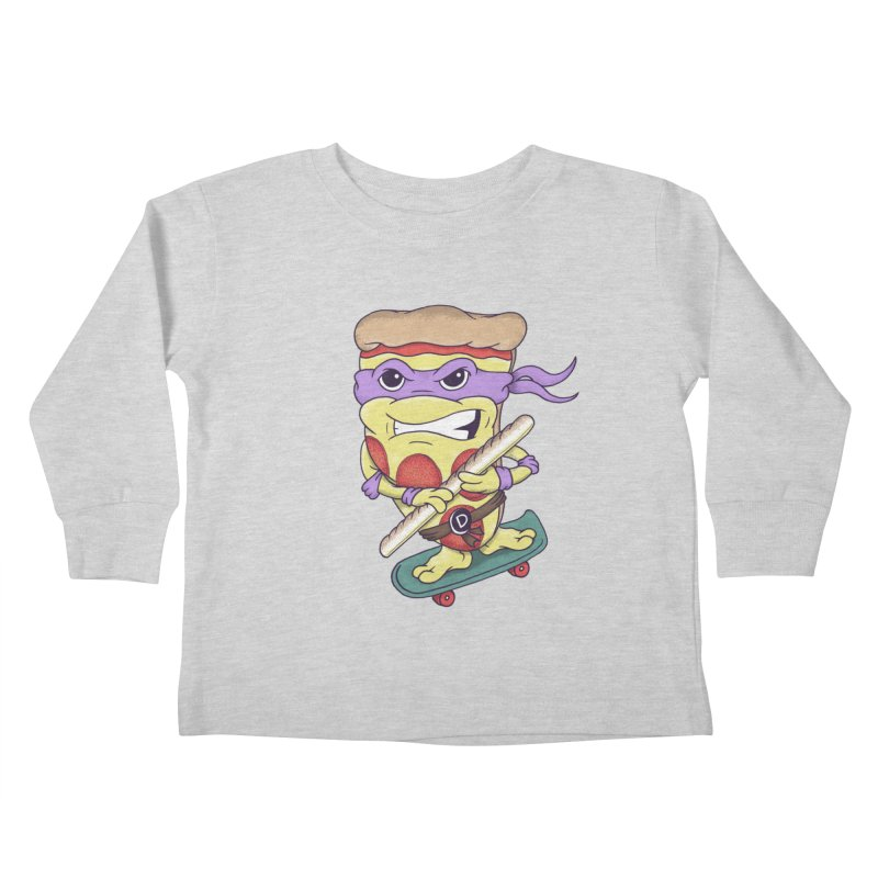 Pizza Donny Kids Toddler Longsleeve T-Shirt by SteveOramA