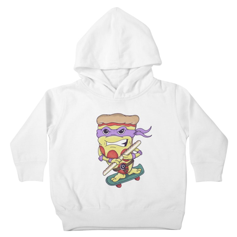 Pizza Donny Kids Toddler Pullover Hoody by SteveOramA