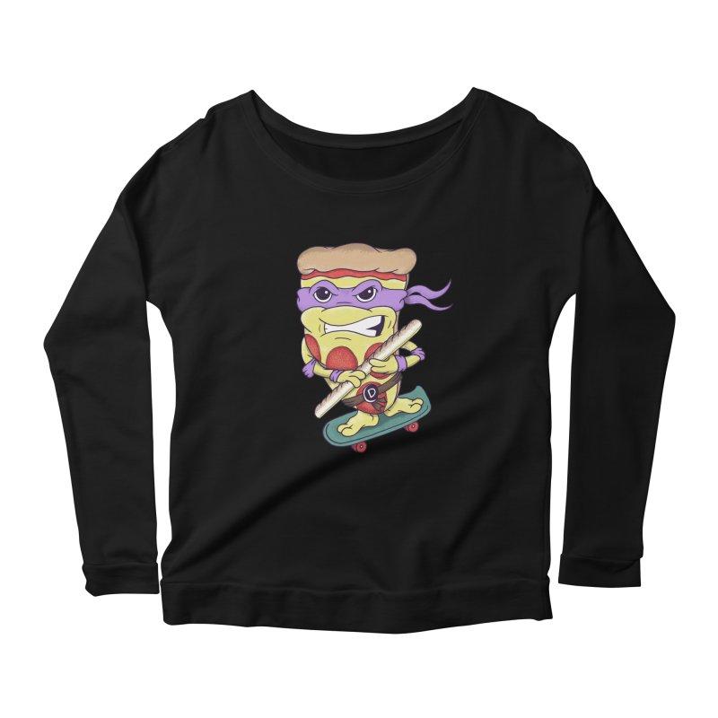 Pizza Donny Women's Scoop Neck Longsleeve T-Shirt by SteveOramA