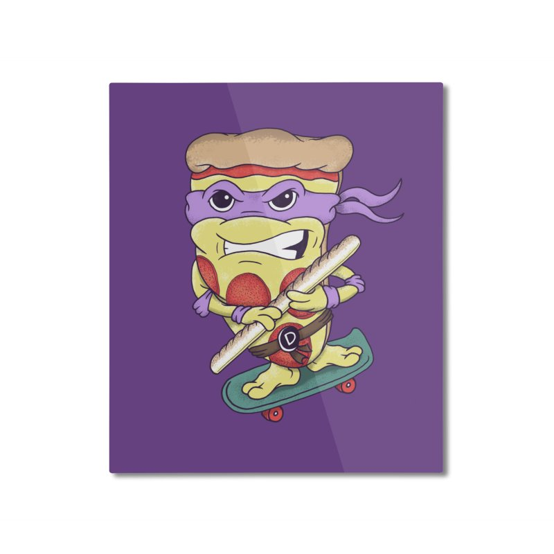 Pizza Donny Home Mounted Aluminum Print by SteveOramA