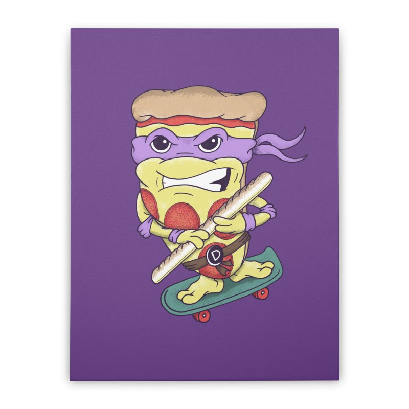 Pizza Donny Home Stretched Canvas by SteveOramA