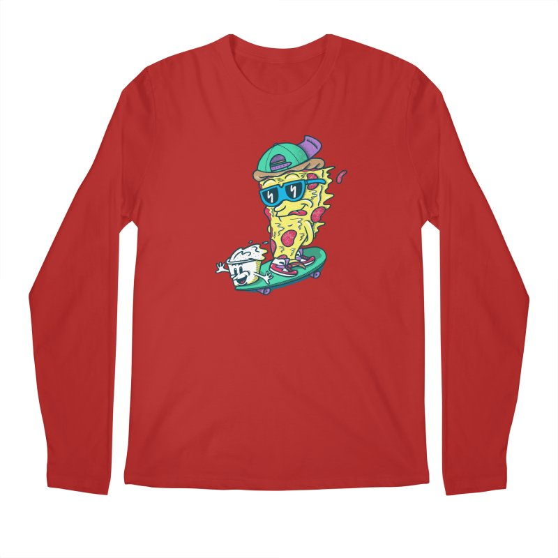 Pizza and Ranch Men's Longsleeve T-Shirt by SteveOramA