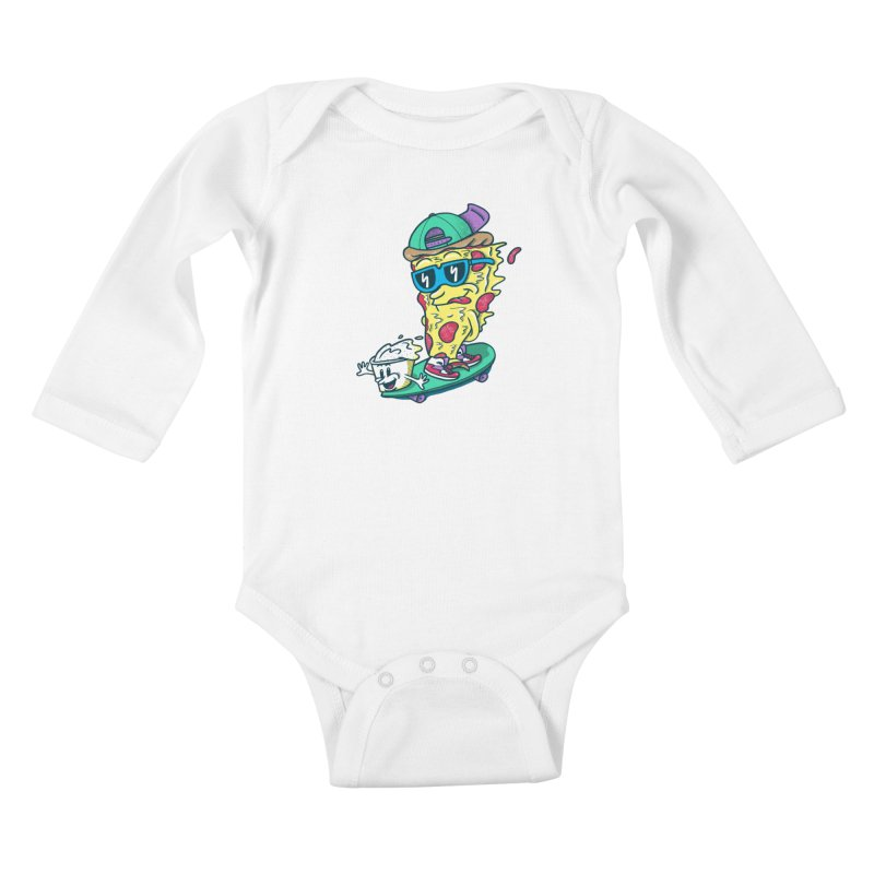 Pizza and Ranch Kids Baby Longsleeve Bodysuit by SteveOramA