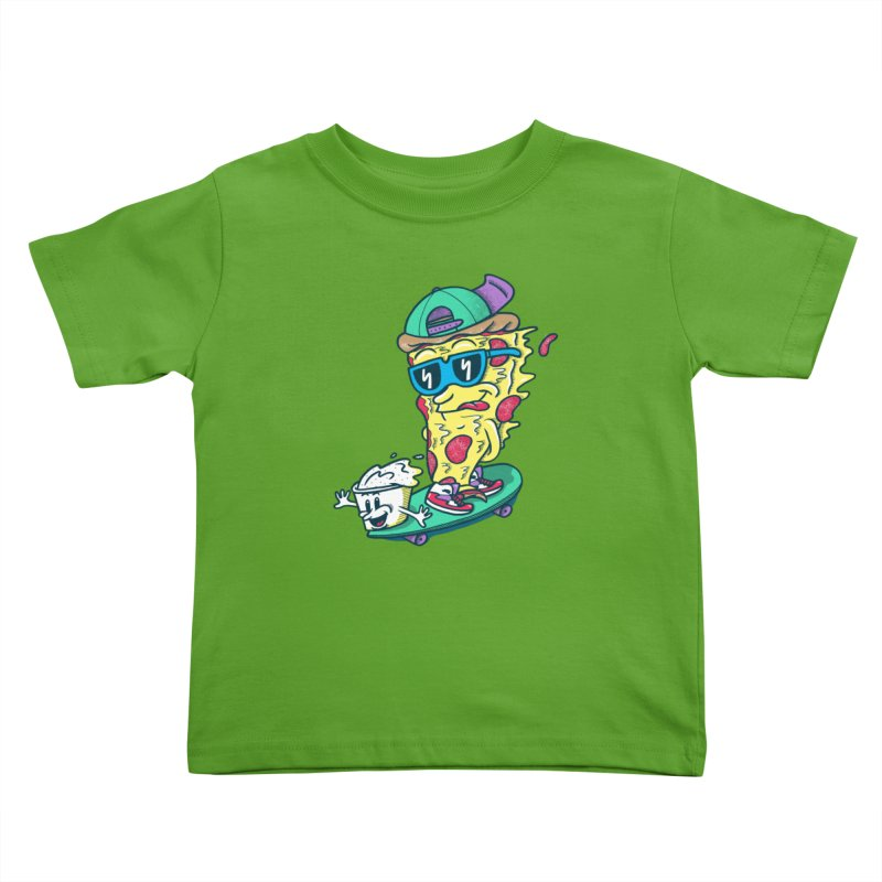 Pizza and Ranch Kids Toddler T-Shirt by SteveOramA