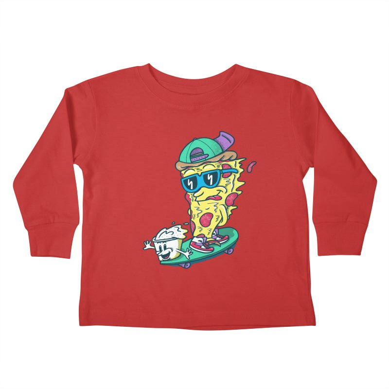 Pizza and Ranch Kids Toddler Longsleeve T-Shirt by SteveOramA