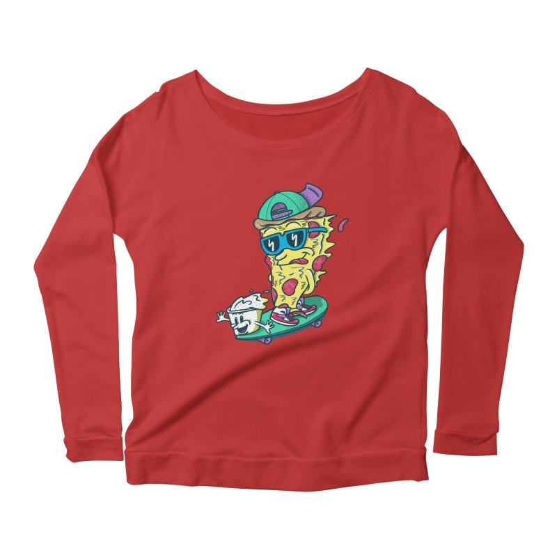 Pizza and Ranch Women's Longsleeve Scoopneck  by SteveOramA