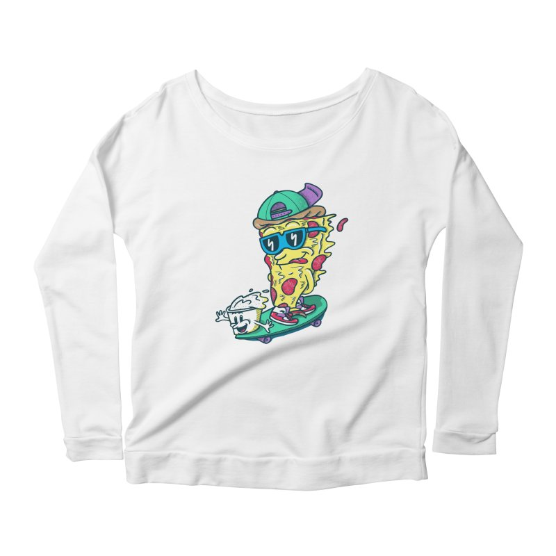Pizza and Ranch Women's Scoop Neck Longsleeve T-Shirt by SteveOramA