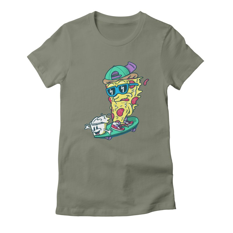Pizza and Ranch Women's Fitted T-Shirt by SteveOramA