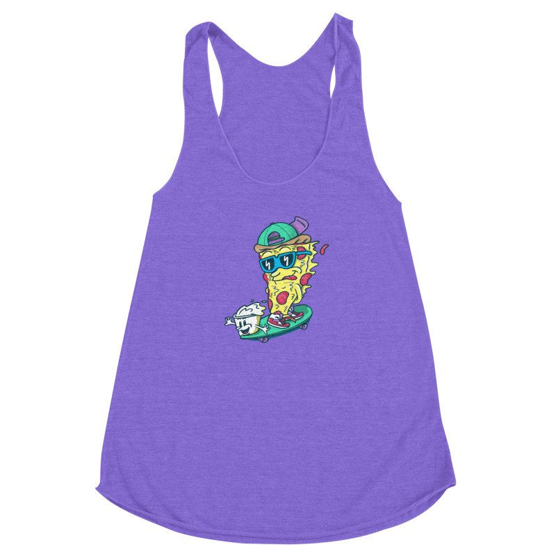 Pizza and Ranch Women's Racerback Triblend Tank by SteveOramA