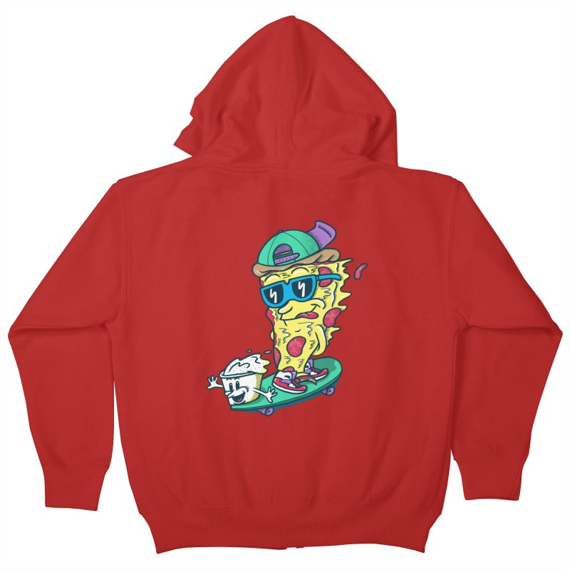 Pizza and Ranch Kids Zip-Up Hoody by SteveOramA
