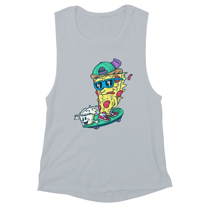 Pizza and Ranch Women's Muscle Tank by SteveOramA