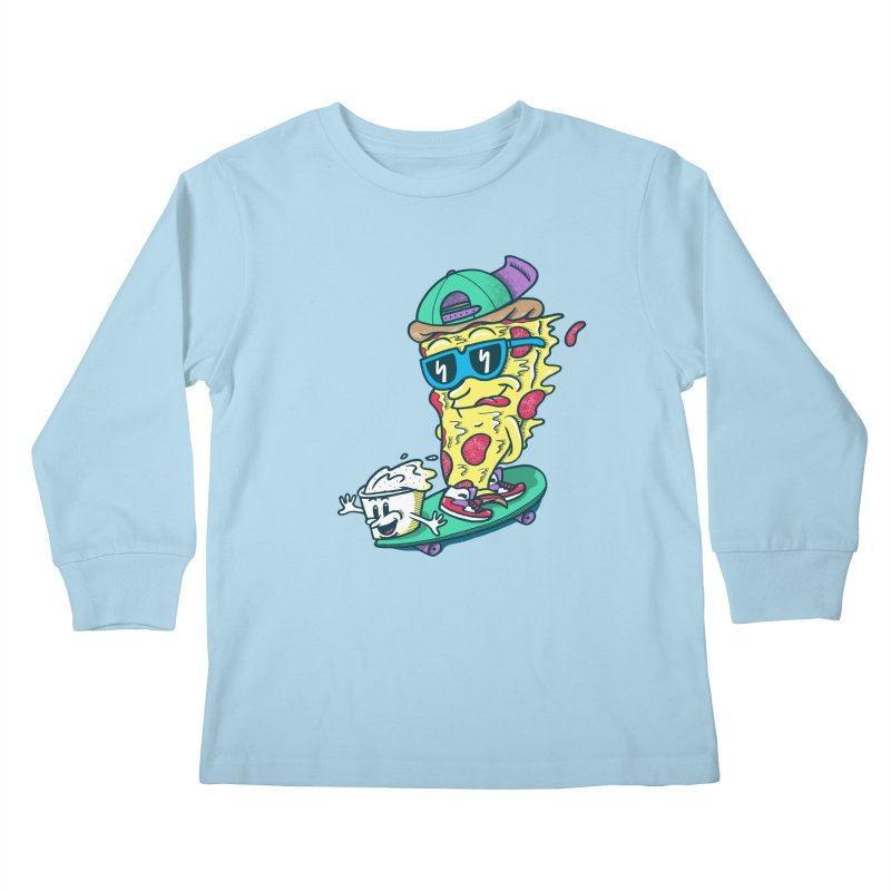 Pizza and Ranch Kids Longsleeve T-Shirt by SteveOramA