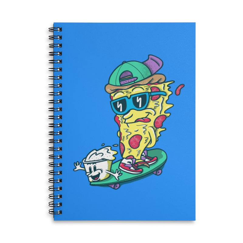 Pizza and Ranch Accessories Lined Spiral Notebook by SteveOramA