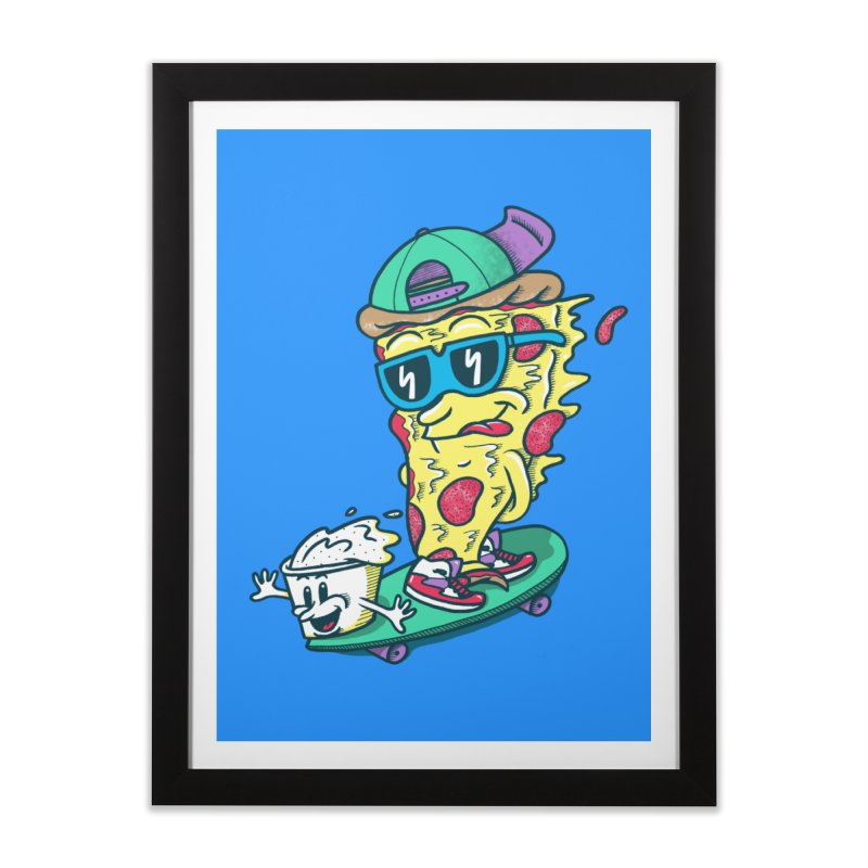 Pizza and Ranch Home Framed Fine Art Print by SteveOramA