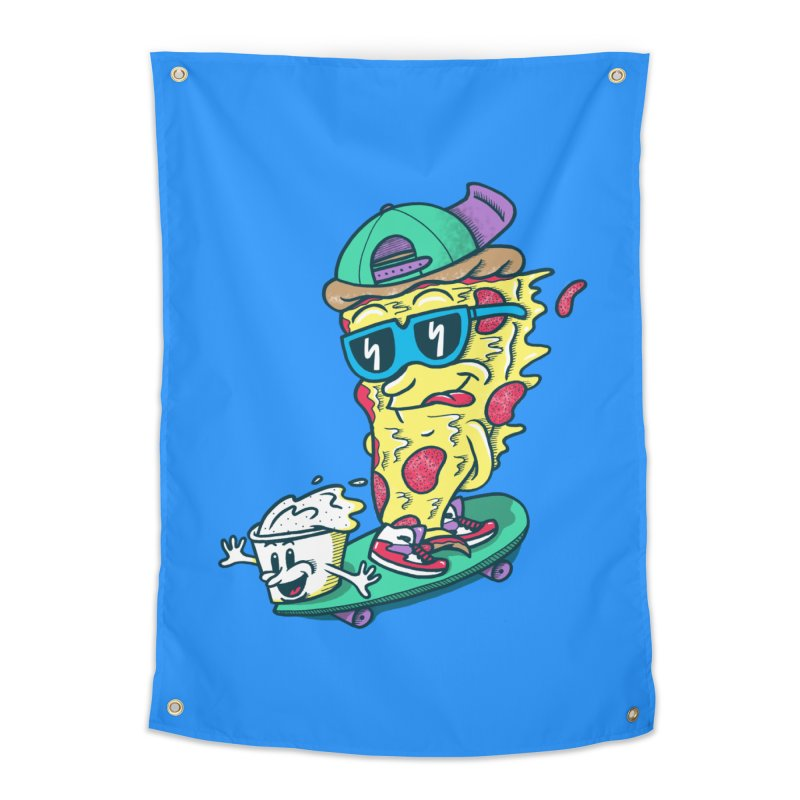 Pizza and Ranch Home Tapestry by SteveOramA