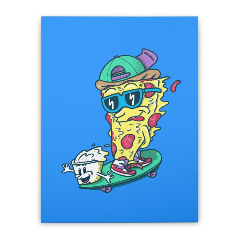 Pizza and Ranch Home Stretched Canvas by SteveOramA