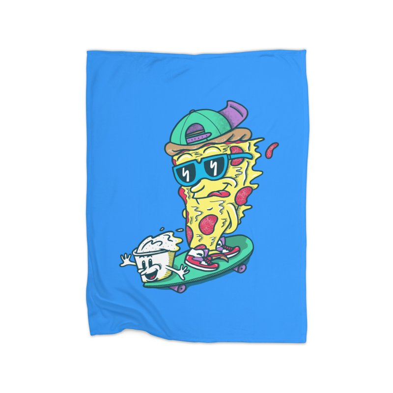 Pizza and Ranch Home Fleece Blanket by SteveOramA