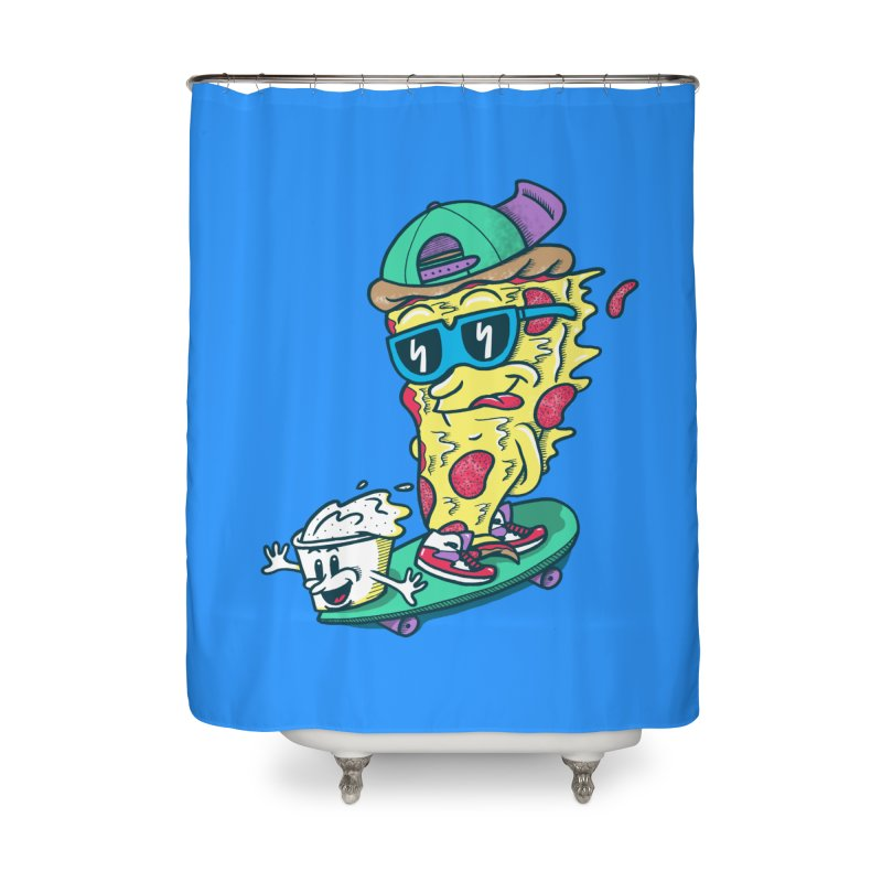 Pizza and Ranch Home Shower Curtain by SteveOramA