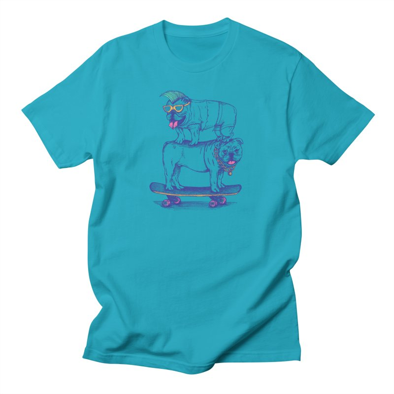Double Dog Dare in Men's T-Shirt Cyan by SteveOramA