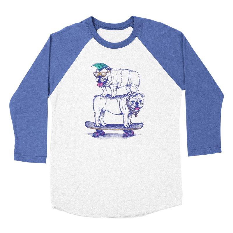 Double Dog Dare Women's Baseball Triblend Longsleeve T-Shirt by SteveOramA