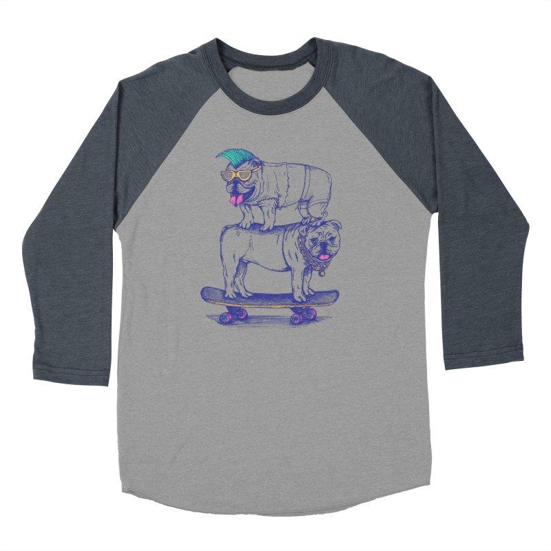 Double Dog Dare Women's Baseball Triblend T-Shirt by SteveOramA