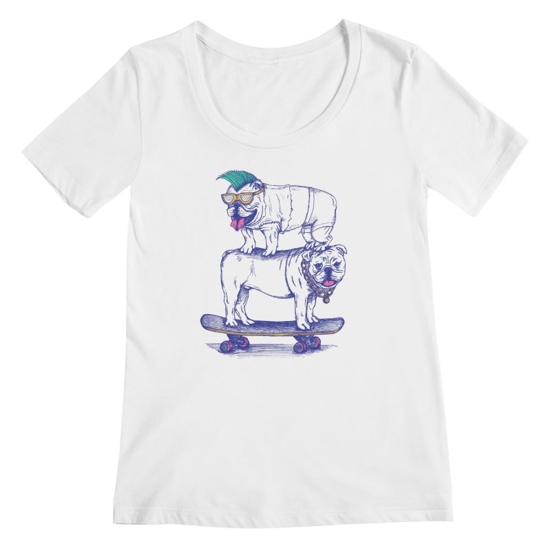 Double Dog Dare Women's Scoopneck by SteveOramA